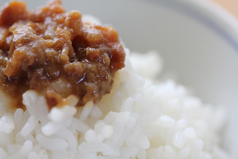大地のお肉の生姜味噌ごはん