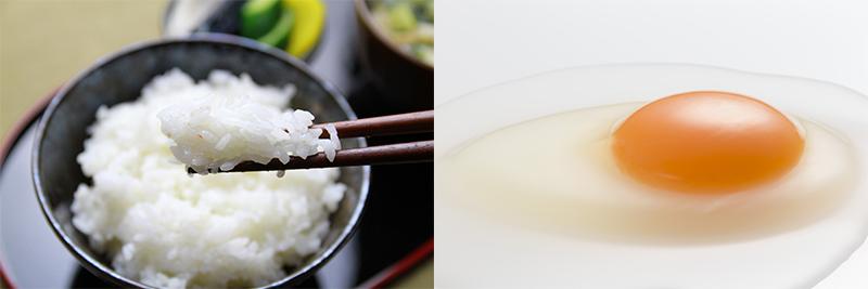 白米と生卵